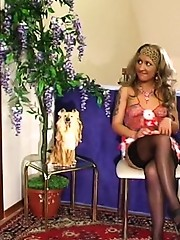 Randy chick with strap-on revealing her fucking talents impaling guy�s ass