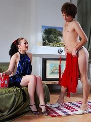 Red hot sissy training
